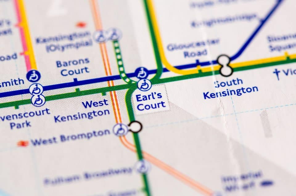 Earls Court Tube Map